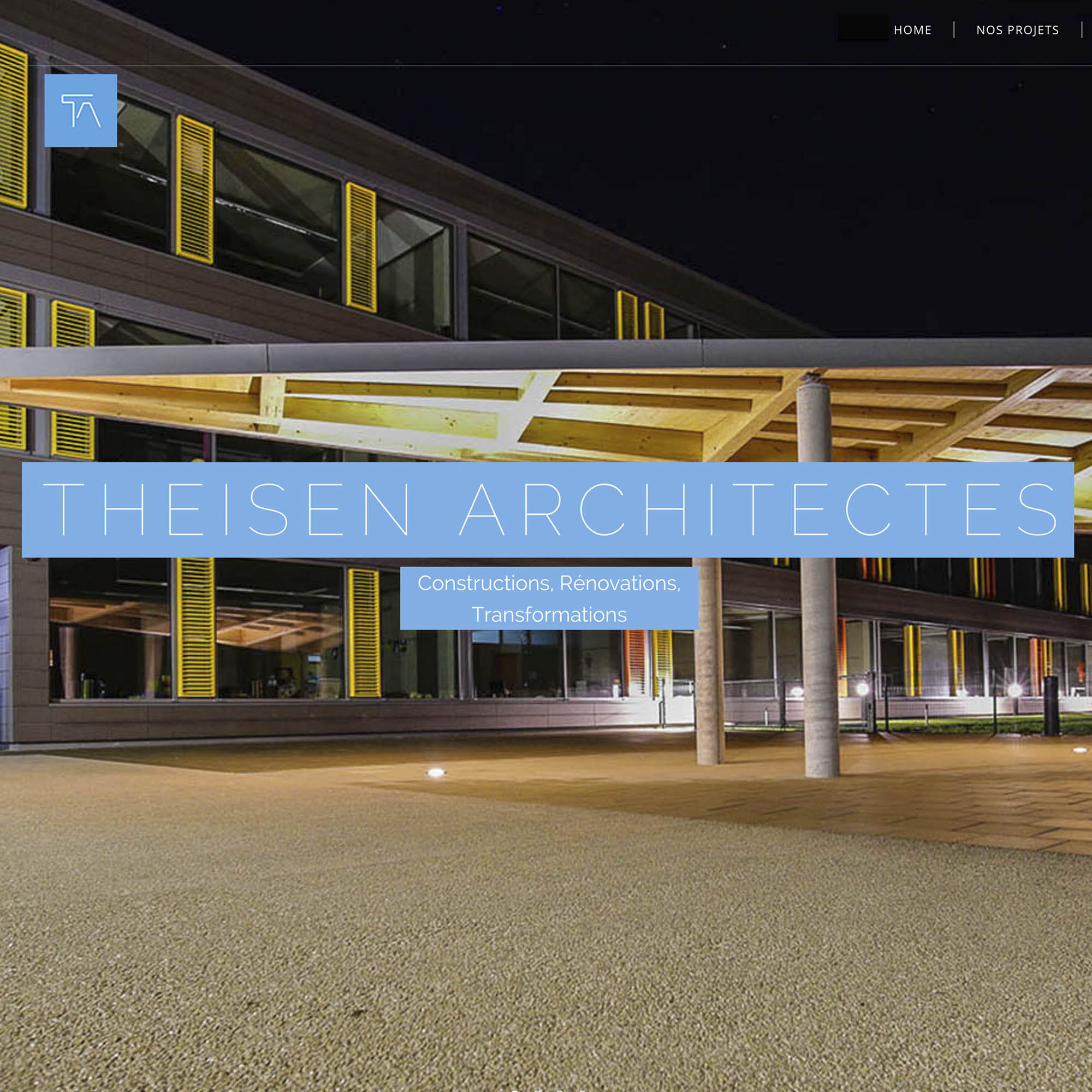 site web Theisen architectes